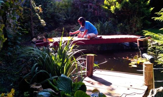Die neue Teichbrücke
