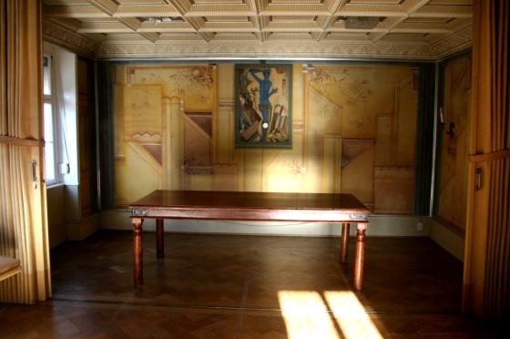 Der Saal mit Trennwand