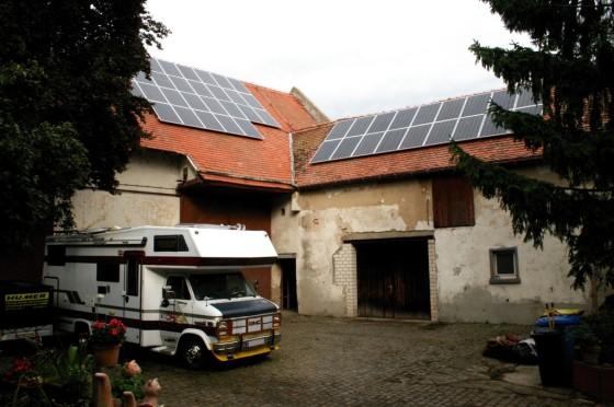 22.9.2013  Die Photovoltaikanlage läuft