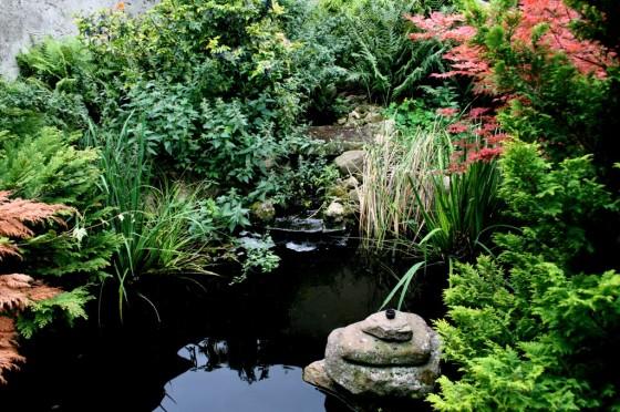 Der Teich - Bachlauf und Springbrunnen